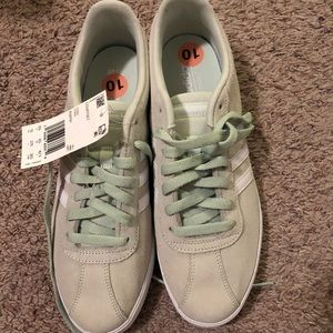 Adidas women's sneakers size 10 color light green